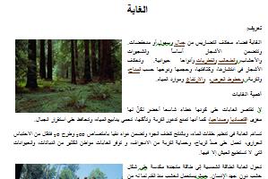 بحث جاهز عن الغابة