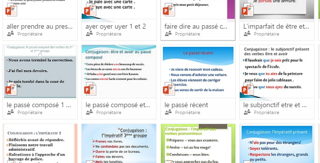 Ressources conjugaison 6 AEP PowerPoint