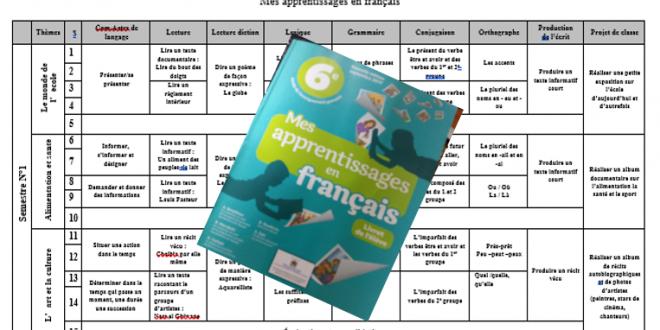 Planification annuelle 6 aep 2017/2018 mes apprentissages en français