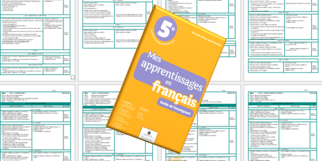 Guide mes apprentissages en français 5 aep version 2017
