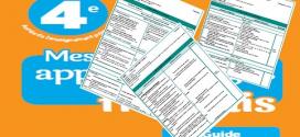 Fiches Unité 1 mes apprentissages en français 4 AEP 2019